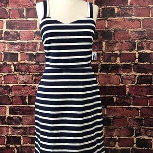 Old Navy Striped Sleeveless Tank Dress navy white